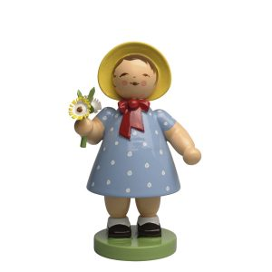 Spring Girl with Bunch of Flowers by Wendt & Kühn Image