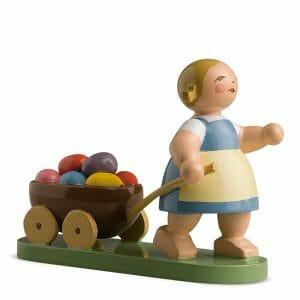 Easter Girl with Cart by Wendt & Kühn