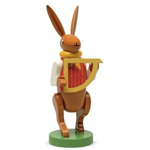 Bunny Musician with Harp by Wendt & Kühn Image