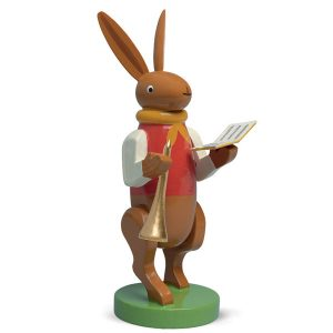 Bunny Musician with Songbook and Small Trumpet by Wendt & Kühn Image