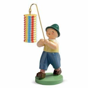 Boy with Long Striped Lantern by Wendt & Kühn Image