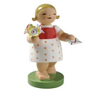 Goodwill Girl with Letter and Flowers by Wendt & Kühn Image