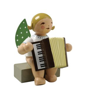 Angel with Accordion Sitting by Wendt & Kühn Image