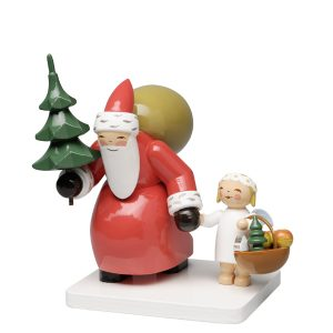 Santa Claus with Tree and Angel by Wendt & Kühn Image