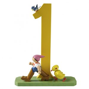 Large Birthday Number 1 Tom Thumb and Chick by Wendt & Kühn Image