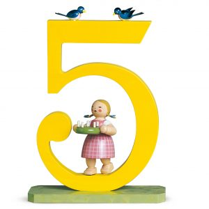 Large Birthday Number 5 Girl with Wreath by Wendt & Kühn Image