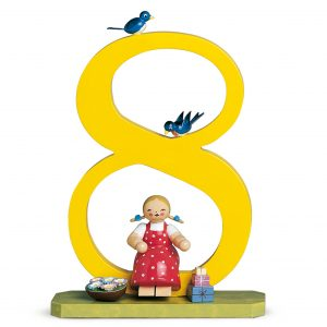 Large Birthday Number 8 Girl with Gifts by Wendt & Kühn Image