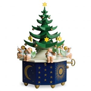 "Muisic Box ""Christmas Tree"" with 36 Note Musical Movement by Wendt & Kühn Image"