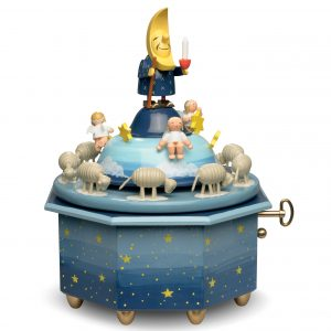 """Muisic Box """"Father Moon"""" with Angels with 36 Note Musical Movement by Wendt & Kühn Image"""