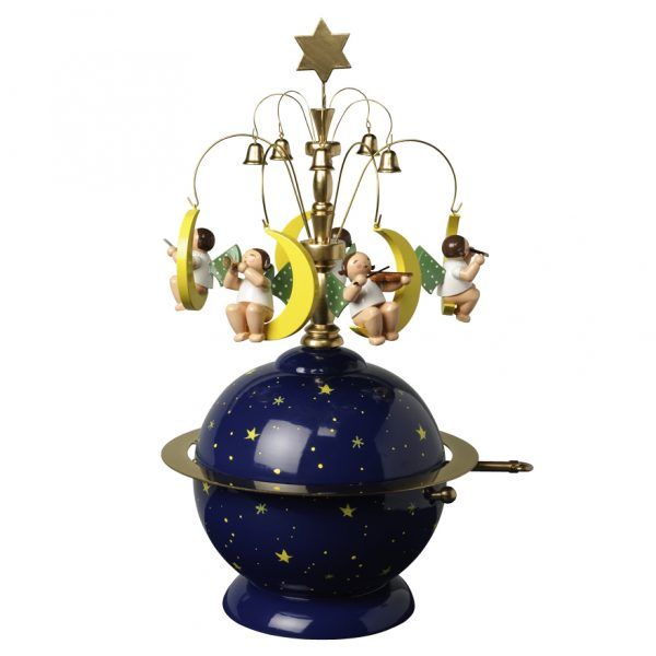 """Muisic Box """"Globe"""" with 36 Note Musical Movement by Wendt & Kühn Image"""