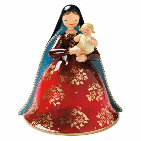 Richly Painted Madonna with Infant Jesus by Wendt & Kühn Image