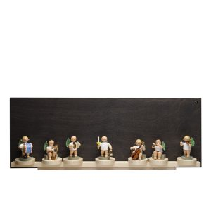 Large Dark Display Self with Seven Sliding Disks with Figurine Examples by Wendt & Kühn Image