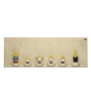 Large Natural Display Self with Seven Sliding Disks with Figurine Examples by Wendt & Kühn Image