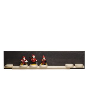 Dark Display Self with Seven Sliding Disks with Figurine Examples by Wendt & Kühn Image
