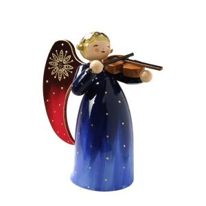 Richly Painted Angel with Violin by Wendt & Kühn Image