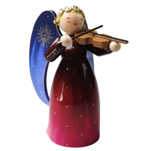 Large Red Richly Painted Angel with Violin by Wendt & Kühn Image