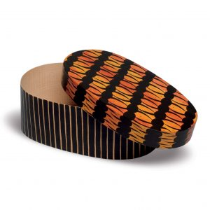 Open Oval Splinter Box with Flame Design by Wendt & Kühn Image