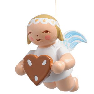 Little Suspended Angel with Gingerbread Heart by Wendt & Kühn Image