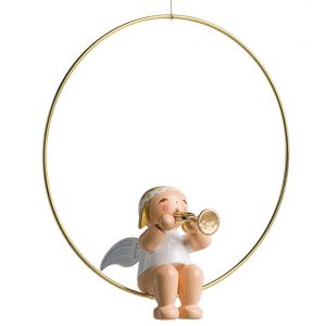 Christmas Tree Angel in Ring with Trumpet by Wendt & Kühn Image