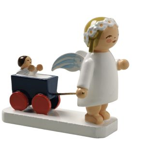 Marguerite Angel with Doll Carriage by Wendt & Kühn Image