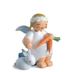 Marguerite Angel Sitting with Hare and Carrots by Wendt & Kühn Image
