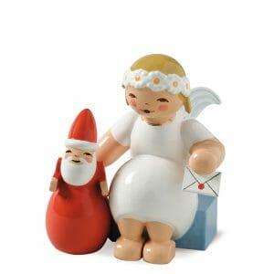 Marguerite Angel Sitting with Santa Claus by Wendt & Kühn Image