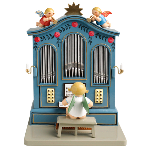 """Music Box """"Organ"""" with 36 Note Musical Movement by Wendt & Kühn Image"""