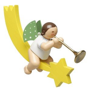 Angel Musician with Ceremonial Trumpet on Comet Tail by Wendt & Kühn Image