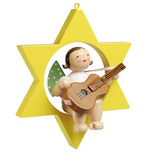 Angel with Guitar in Star by Wendt & Kühn Image