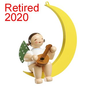 Angel Musician with Mandolin in Moon Retired Image