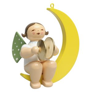 Small Angel Musician with Cymbals in Moon by Wendt & Kühn Image