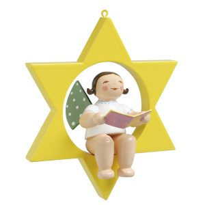 Small Angel Musician with Song Book in Star by Wendt & Kühn Image