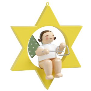 Small Angel Musician with Triangle in Star by Wendt & Kühn Image