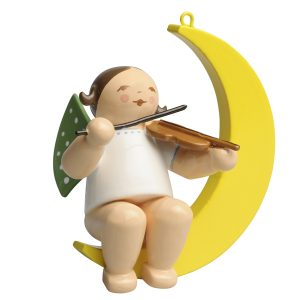 Small Angel Musician with Violin in Moon by Wendt & Kühn Image