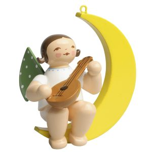 Small Angel Musician with Mandolin in Moon by Wendt & Kühn Image