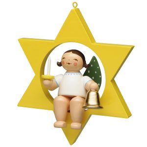 Small Angel Musician with Bell and Candle in Star by Wendt & Kühn Image