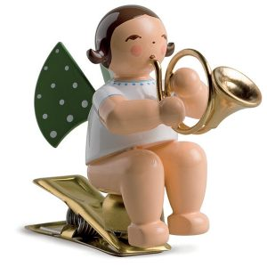 Angel Musician with French Horn on Clip by Wendt & Kühn Image