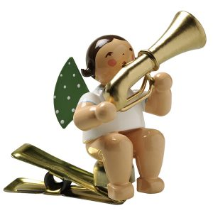 Angel Musician with Tuba on Clip by Wendt & Kühn Image