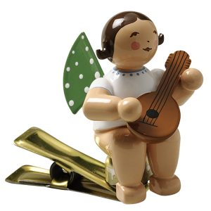 Angel Musician with Mandolin on Clip by Wendt & Kühn Image