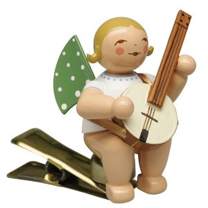 Angel Musician with Banjo on Clip by Wendt & Kühn Image