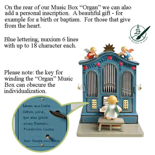 Organ Music Box with Personalization Image