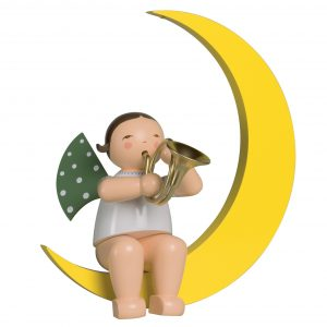 Large Angel Musician with French Horn in Moon by Wendt & Kühn Image