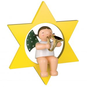 Large Angel Musician with French Horn in Star by Wendt & Kühn Image