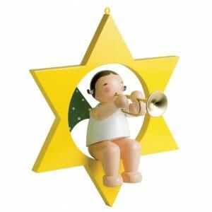 Large Angel Musician with Trunpet in Star by Wendt & Kühn Image