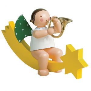 Large Angel Musician with French Horn on Comet Tail by Wendt & Kühn IMAGE