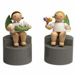 Angels on Pedestal Pair 2 by Wendt & Kühn Image