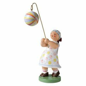 Girl with Striped Round Lantern by Wendt & Kühn Image