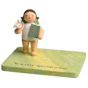 Angel with Gift for Mothers Day on Customized Base by Wendt & Kühn Image