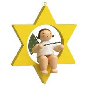 Small Angel Musician with Baton in Star by Wendt & Kühn Image
