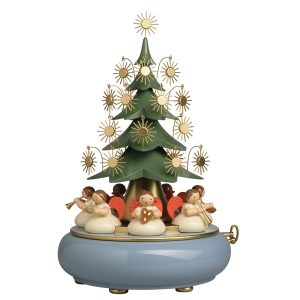 Music Box with Angels Sitting Under the Tree by Wendt & Kühn Image